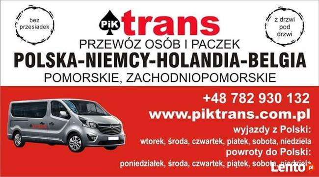 Przewóz osób i Paczek / Polska-Niemcy-Holandia-Belgia