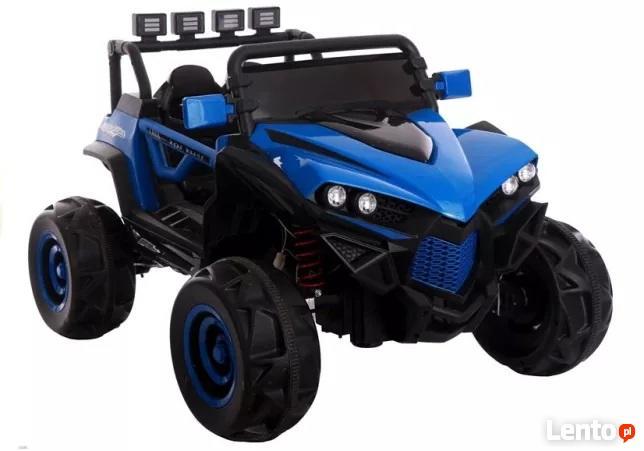 Auto na Akumulator Niebieski duzy JEEP zabawka dla dzieci cz