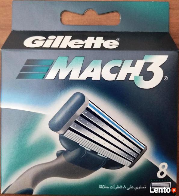 Oryginalne wkłady GILLETTE MACH3 8szt TANIA WYSYŁKA