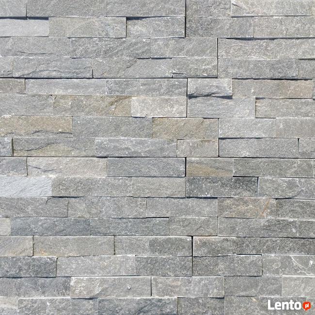 panel kamienny łupek Grey 36x10x0,8-1,3 cm