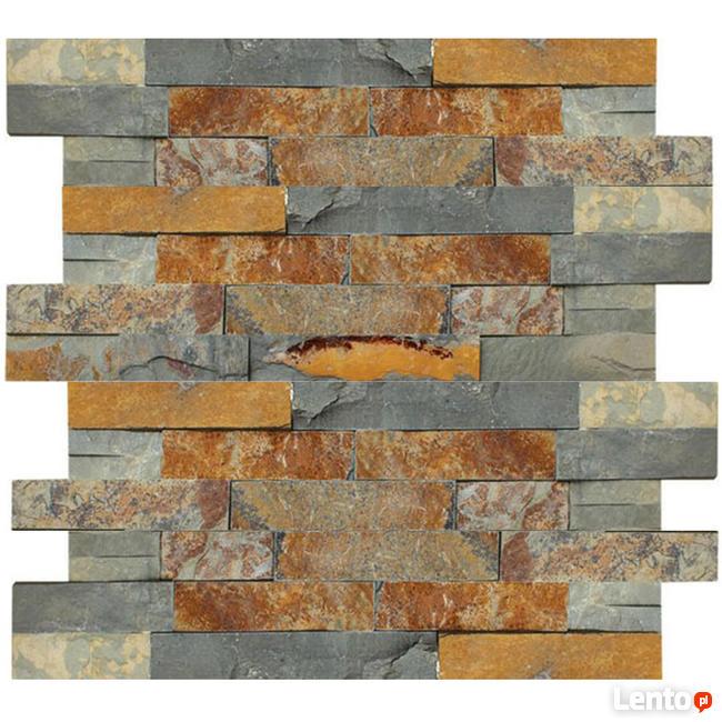panel kamienny Stackstone Łupek Multicolor 36x10x0,8-1,3 cm
