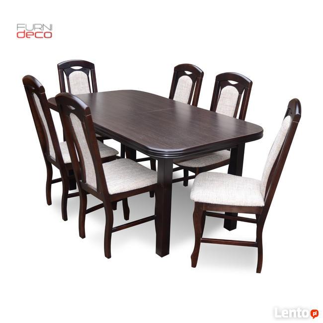 Klasyczny Komplet   Stół + 6 Krzeseł    Furnideco
