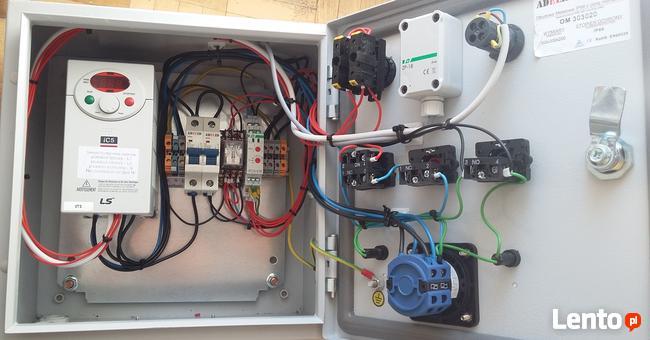 Budowa rozdzielni, układów sterownia do urządzeń