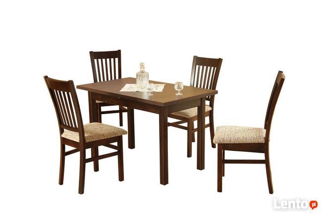 Mały i Klasyczny Zestaw Eros Stół z wkładką + 4 Krzesła