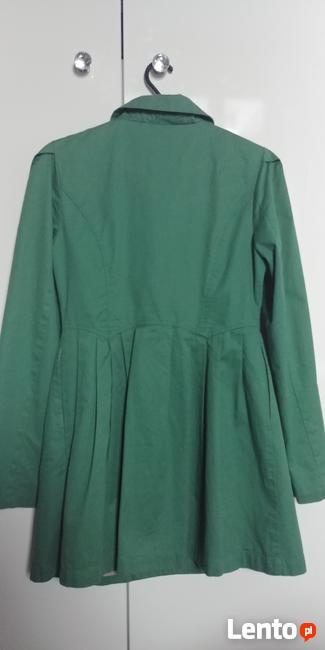 Zielony płaszcz rozm. S