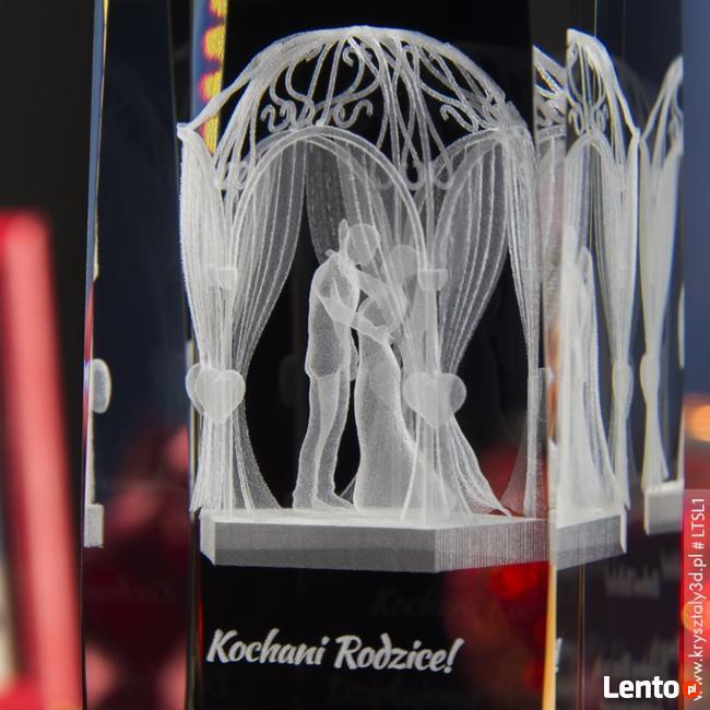 Altanka Ślubna 3D - kryształ 3D z personalizacją