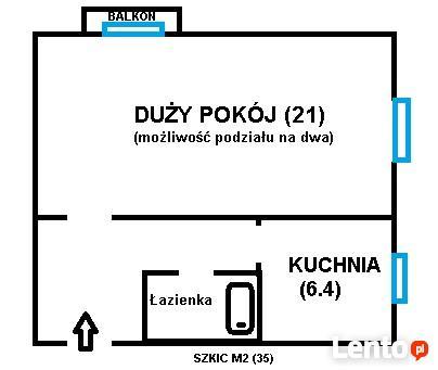 M2(35) w bloku na dwa pokoje w kamienicy do Wykupu!