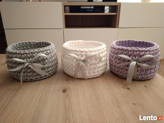 Koszyk handmade ze sznurka
