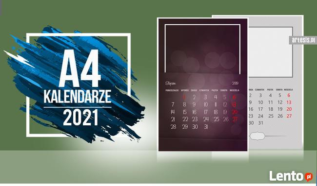 Foto Kalendarz ścienny 2021 szablony A4 ze zdjęciami