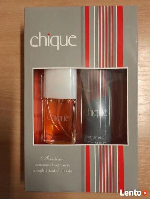 Chique woda kolońska i dezodorant w sprayu Made in UK.