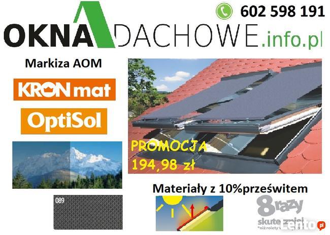 Markiza do okna dachowego AOM 78x98;78x118;78x140;78x160 10%
