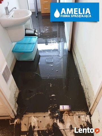 sprzątanie po wybiciu kanalizacji zalaniu Cała Polska
