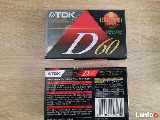 NOWE kasety magnetofonowe- TDK 60 made in Japan Real foto -