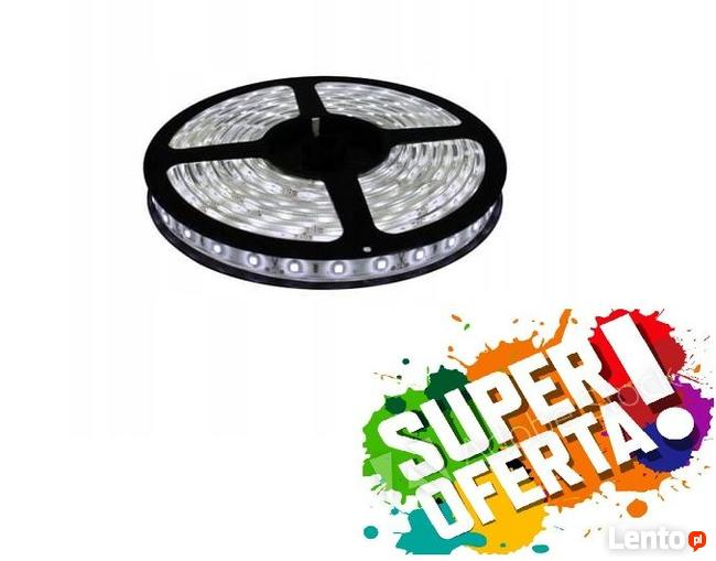 Nowa taśma LED wodoodporna 5050 biała zimna zestaw NOWY !