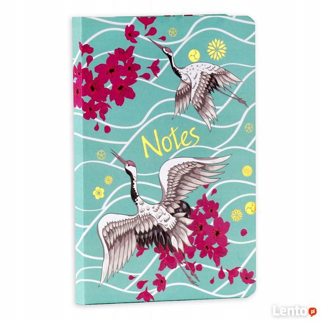 Czaple pamiętnik A5 notatnik w linie diary japonica
