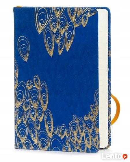 Złote Piórka pamiętnik tłoczony notatnik na gumkę