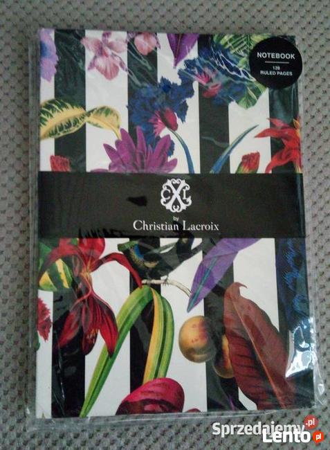 Kwiecisty rajski ogród Christian Lacroix oszałamiający notes