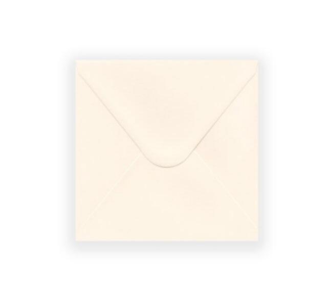 perłowe koperty kwadratowe, ecru koperty 14x14