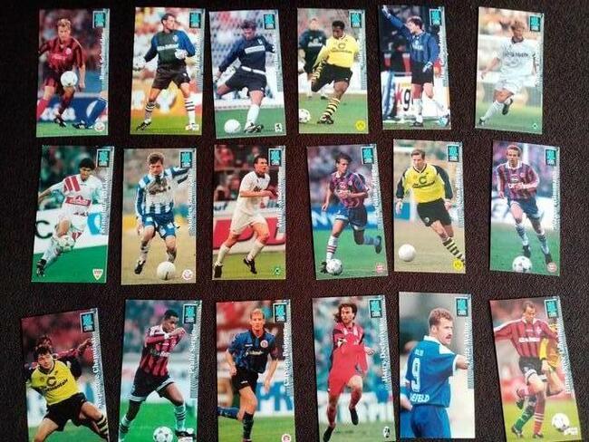 Karty piłkarskie, autografy