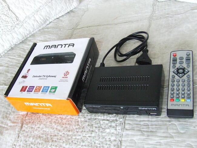 TUNER Manta DVB-T HD do oglądania telewizji naziemnej.