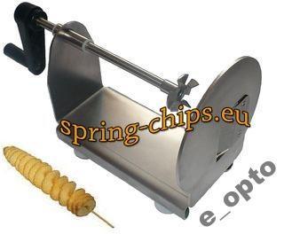 maszynka zakrecone chipsy frytki patyku ziemniaki