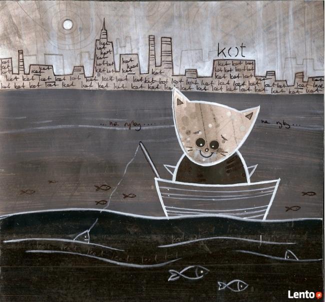 NIEBANALNY PREZENT-szalone kolaże kotów!!!