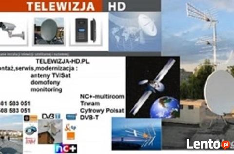 Montaż anten nc+, Polsat,DVB-T.Naprawy,regulacje.Serock