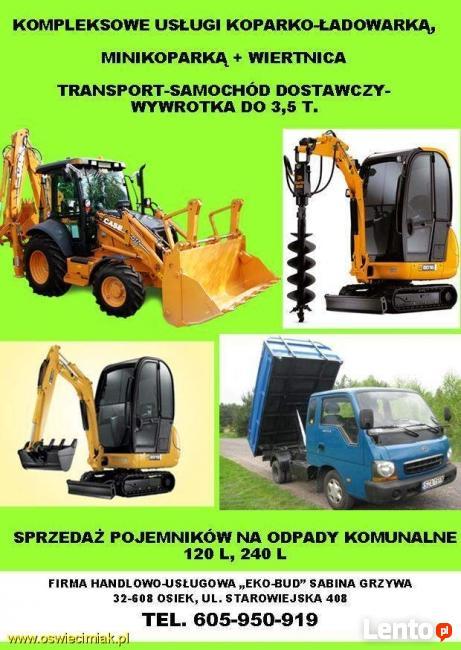 Transport-samochód dostawczy-wywrotka do 3,5 t.