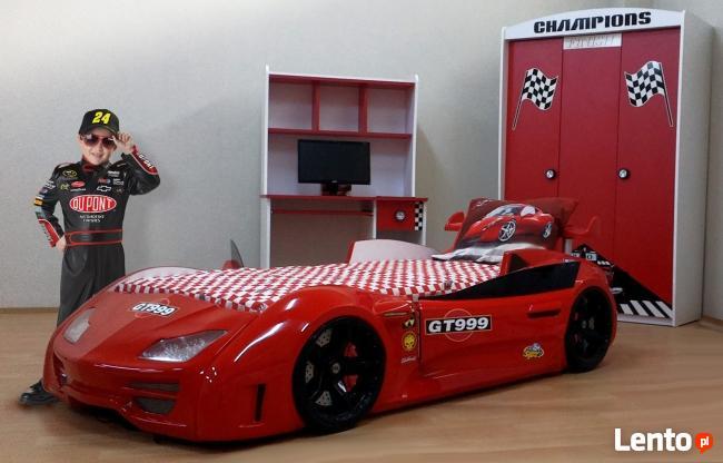 Łóżko dziecięce samochód-otwierane drzwi, światła LED