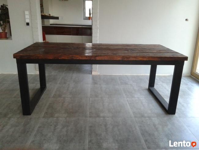 Zaktualizowano Piękny stół ze starych desek-dom, biuro, design, loft Koło NW64