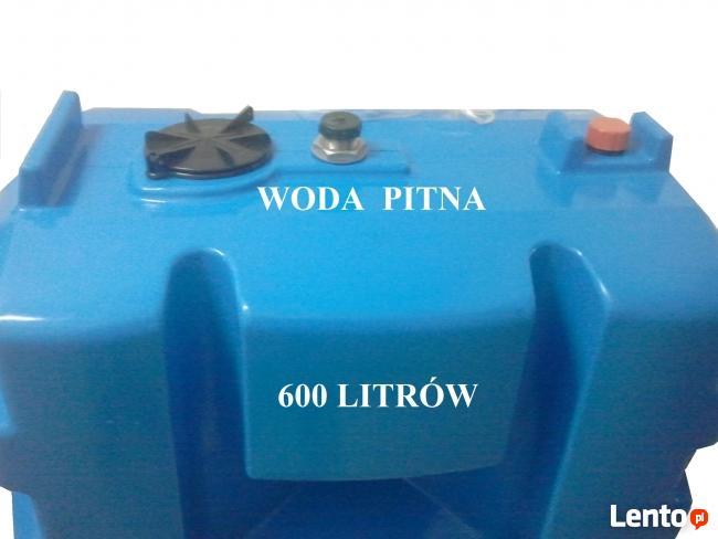 Zbiornik na wodę PITNĄ 600 L - Atest PZH