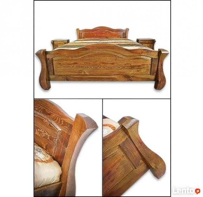 Nowe Solidne Łóżko z Drewna Litego-Różne