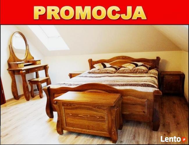 Drewniana Sypialnia 180x200 , Różne Kolory - PRODUCENT