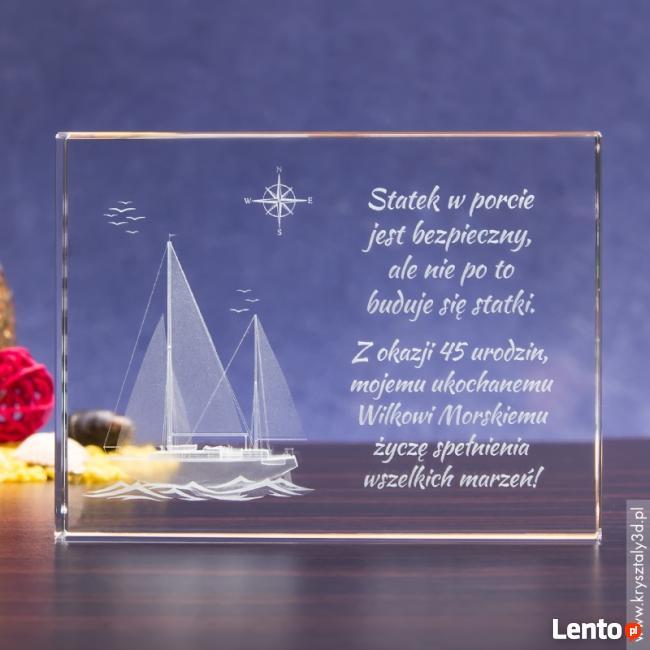 Kryształ »Jacht 3D« w prezencie dla marynarza!