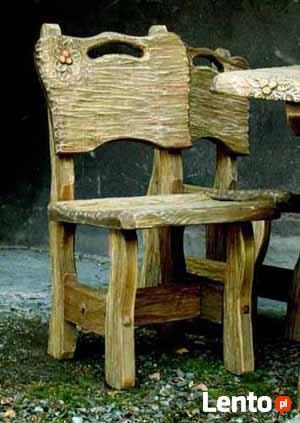 Komplet stylowych mebli - stół i krzesła