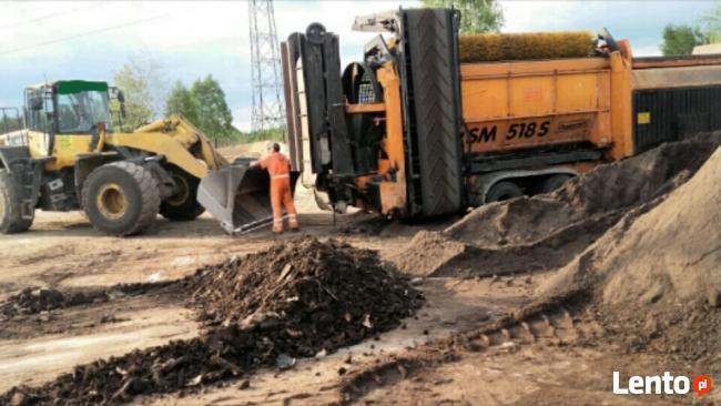 ziemia - oczyszczona - czarnoziem/usługi koparko ładowarką