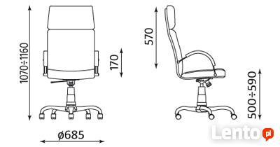 Fotel biurowy Nadir steel02 chrome z mechanizmem Tilt Nowy S