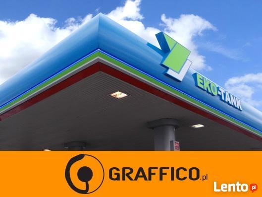 Otoki reklamowe dla stacji paliw _ GRAFFICO