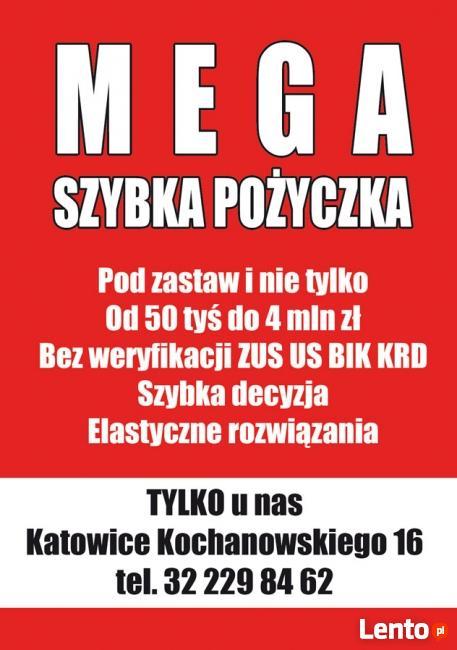 Hipoteka kredyt konsolidacja pożyczka Katowice Gliwice.