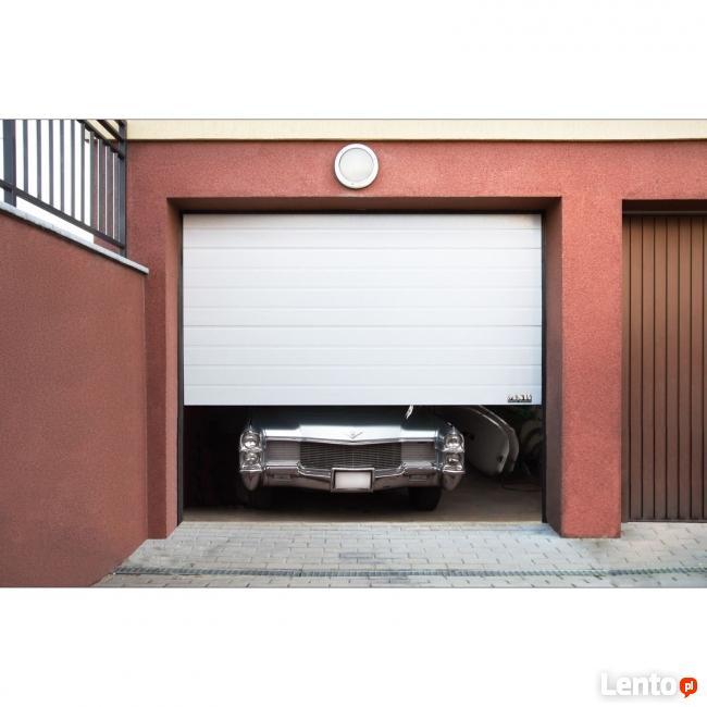 Segmentowa brama garażowa 2,5m woodgrain
