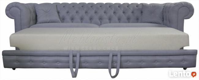 Sofa chesterfield z wygodną funkcją spania