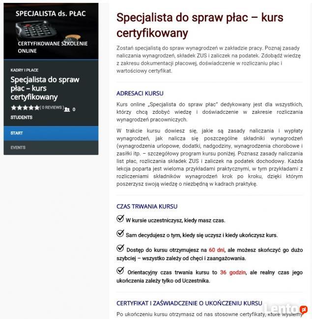 """Certyfikowany kurs online """" Specjalista ds. kadr"""""""