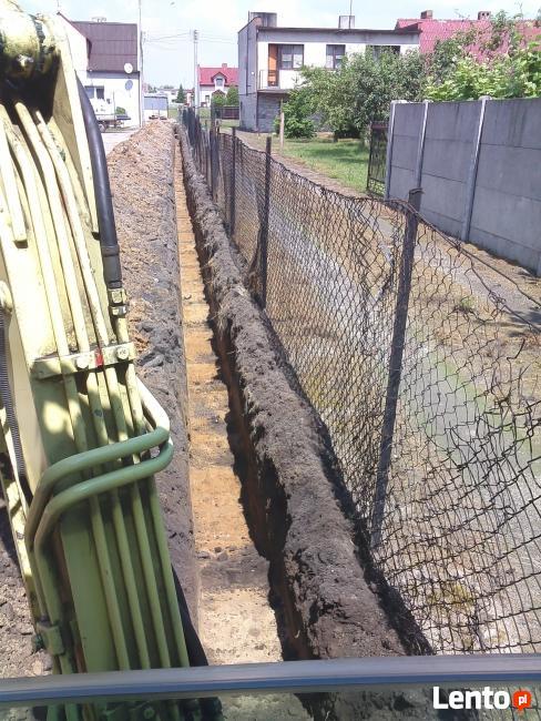 Koparka mini Odprowadzanie wody deszczowej , drenaż Kościan