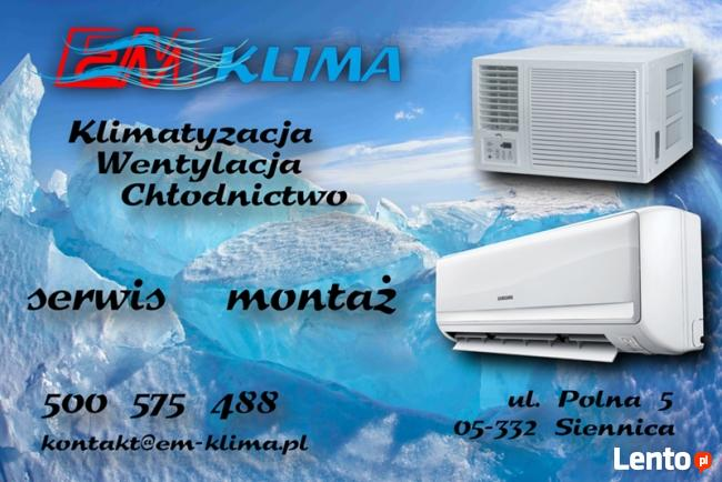 EM-KLIMA klimatyzacja wentylacja chłodnictwo montaż serwis