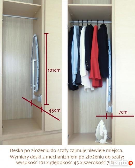 NOWOŚĆ Deska do prasowania do zabudowy w szafie