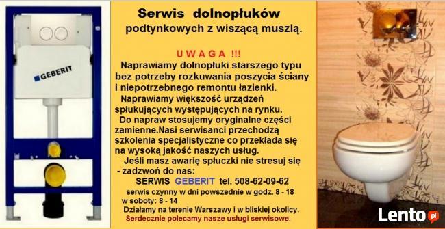 Wc serwis spłuczek podtynkowych na stelażu.Warszawa.