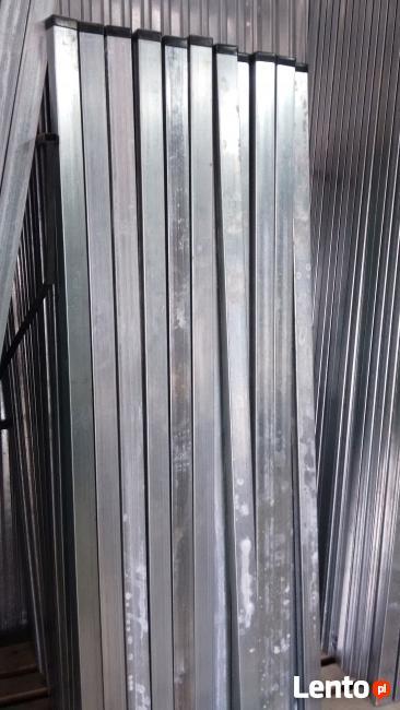 Słupki ocynkowane 60x40 do paneli zgrzewanych