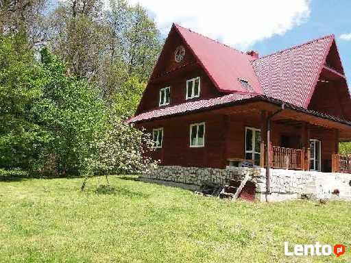 Dom drewniany z bali Kaczórki obok Zamościa