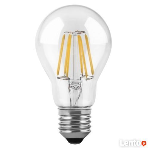 Żarówka LED E27 filament 4W biała ciepła