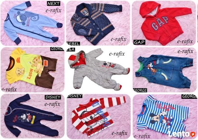 56-62-68-74-80-86 super angielskie ubranka chłopiec